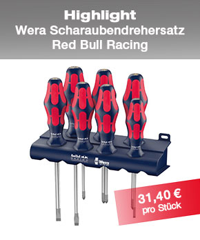 Schraubendrehersatz WERA Red Bull Racing