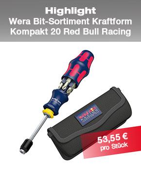 Bit-Sortiment WERA Red Bull Racing
