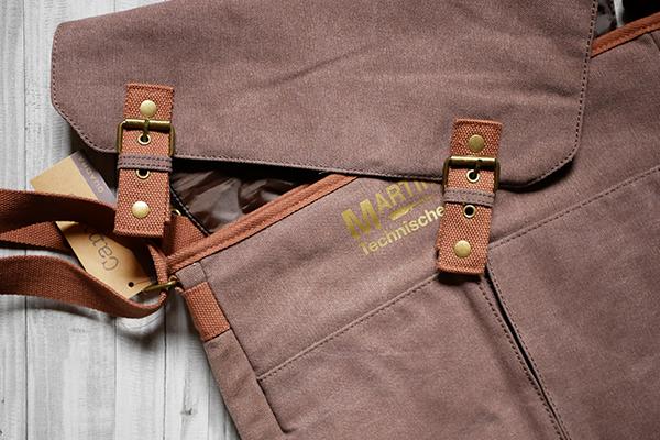 Werbetechnik Textildruck Tasche mit Goldfoliendruck